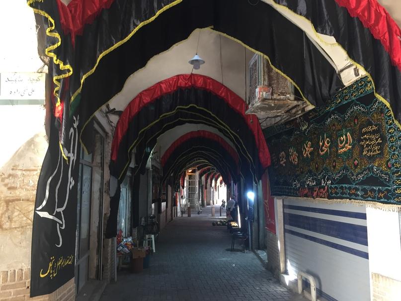 Базар подготовленный к Мухарраму. Путешествие в Иран