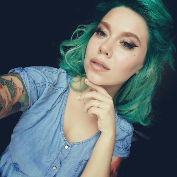 Зеленые Волосы Интим Фото