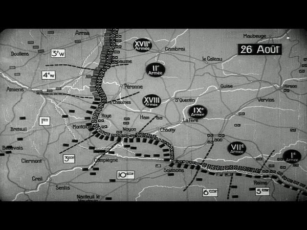 HD Stock Footage WWI Battle of Picardy - Hindenburg Line - Battle of Amiens