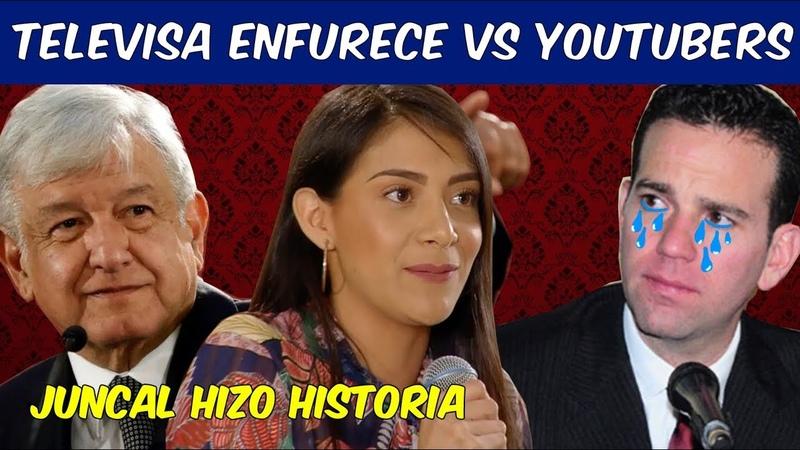 Televisa Despotrica contra Youtuber Juncal Solano por estar presente en las mañaneras