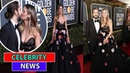 Heidi Klum kisses fiancé Tom Kaulitz and flaunts dark stone sparkler at Globes after engagement