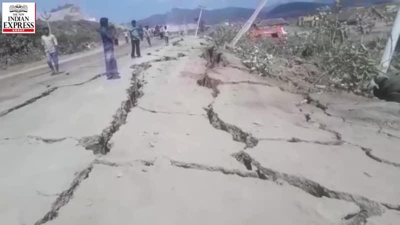 В Индии трескается земля (район Полаварам, округа Андхра-Прадеш)