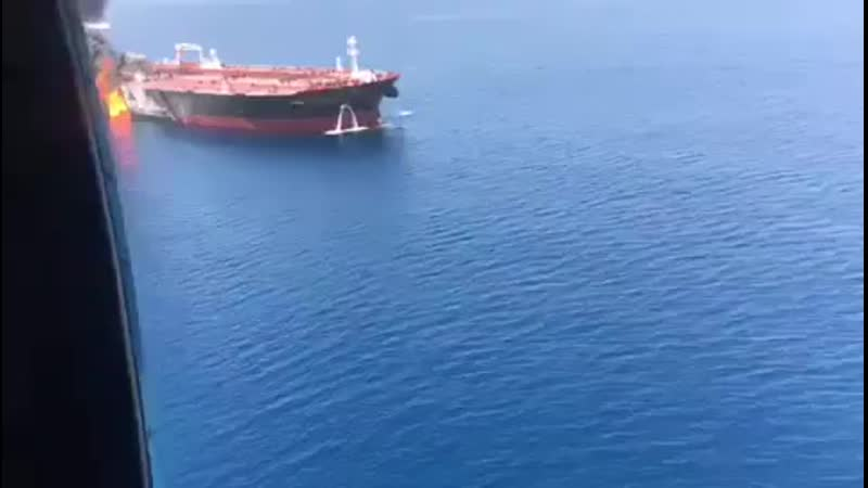Two oil tankers struck in suspected attacks in Gulf of Oman FOLLOW FOR MOR 272 X 480 mp4