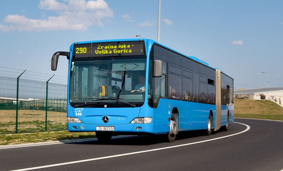 Городской электробус в Загребе
