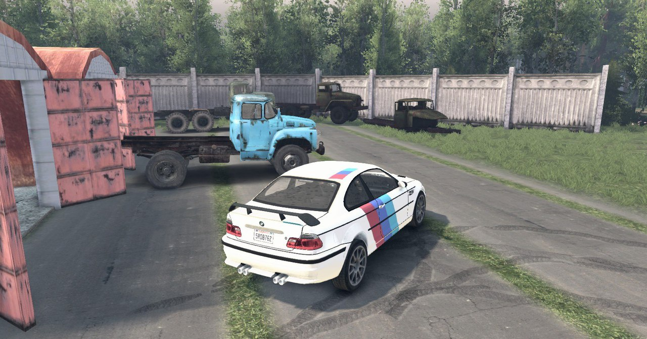 BMW M3 для Spintires - Скриншот 3