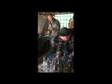 маруся раз чернявая девчина гаражный алкашный ансамбль  инструментальная игра на бутылках т подбасовка по капоту
