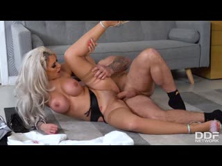 Brooklyn Blue - Banker Fucked By Busty Blonde - Porno, Big TIts Blonde Lingerie Blowjob DeepThroat Doggystyle Gonzo Hardcore