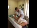 Фрагмент сеанса антицеллюлитного массажа
