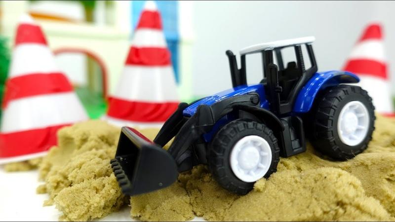 Vehículos de servicio. Juguetes infantiles. Nuevos vídeos para niños.