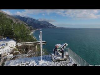 Гагра - первый снег в 2017 году