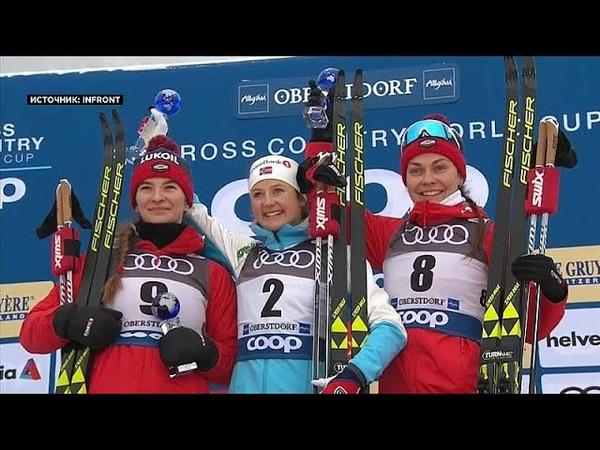 Российские лыжники на пьедестале Тур де Ски