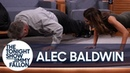 Alec Baldwin Challenges His Wife to a Push Up Contest