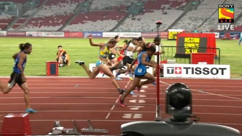 Jakarta Palembang 2018 Asian Games - 100m Women Final Race