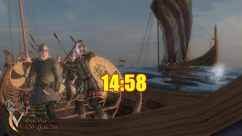 [18] Шон играет в Mount Blade Viking Conquest (PC, 2014)