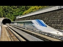 Japanese Maglev High Speed Train rides at a speed of over 500 km h 311mph
