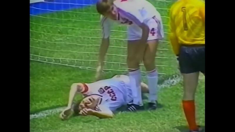 ЧМ 1986. Олег Блохин (СССР) - мяч в ворота Канады