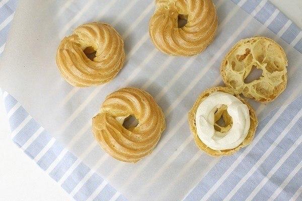 Рецепт кольца с творожным кремом рецепт