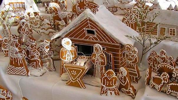 Рождественские домики для рождественской ярмарки своими руками