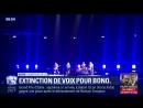 Extinction de voix pour le vieux millionnaire communiste Bono qui lançait sa tournée pro-migrants et pro-UE à Berlin