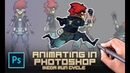 Animating in photoshop for indie games Ikeda 8 frame run animation challenge