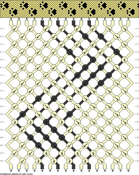 Фенечка-лапки или следы лапок