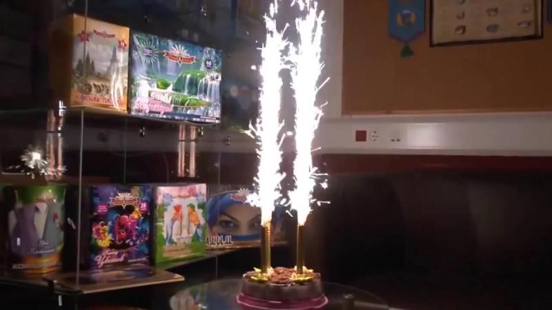 Фейерверк для торта Birthday Candle 6 штук