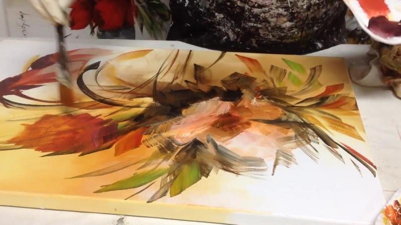 6 Pequena amostra de como pintar telas com esponja com Luiza Sartori .