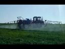 Обработка пшеницы полевым опрыскивателем