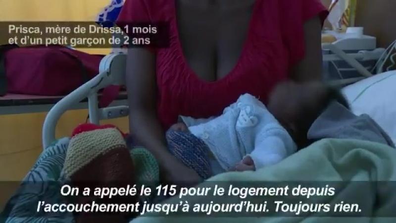A Saint Denis l'hôpital abrite des jeunes mères négresses sans abri et leurs bébés