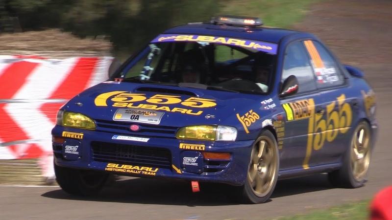 Subaru Impreza 555 Group A at WRC Rallye Deutschland - Great Boxer Rumble Sound!