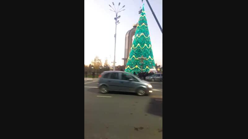 Ёлка в Душанбе 28 мерт Ёлка 2019 в Таджикистан 28мерт