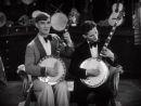 Eddie Peabody And Jimmy Maisel Entertain On Their Banjos