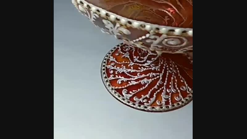 Натальи Федоренко — Точечная роспись вазы