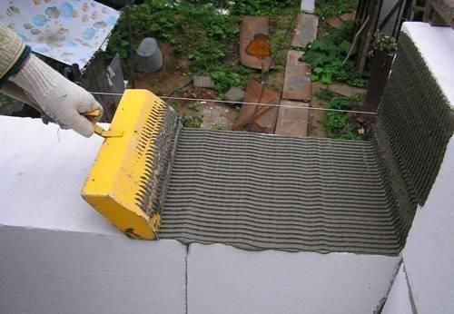 Клеевой раствор для укладки газобетонных блоков