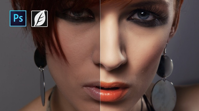 RETOUCH skin with Photoshop and Skinfiner 2.0