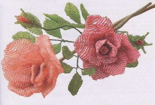 плетение бисером роза