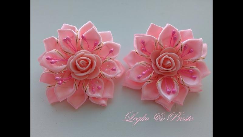 Красивые бантики из лент 2,5 см МК Канзаши / Beautiful ribbons made of ribbons 2,5 cm MK Kanzashi