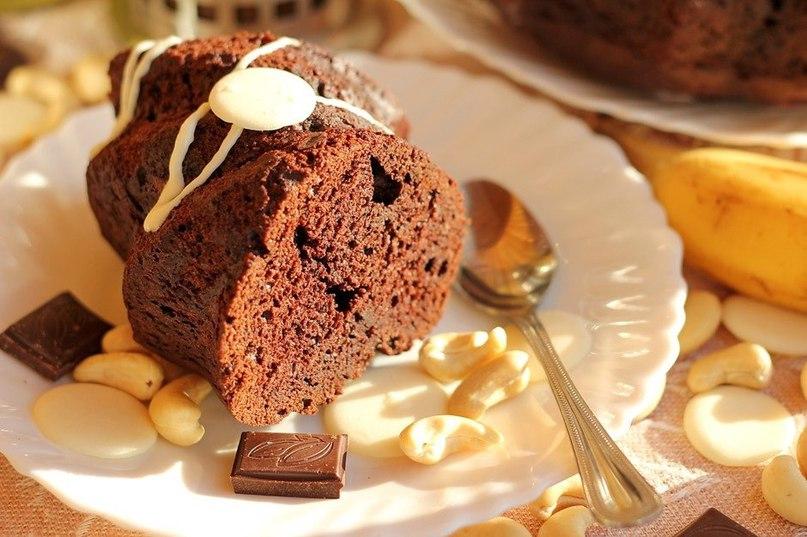 Шоколадный кекс с бананом рецепт