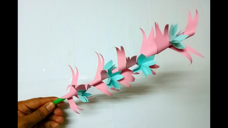 Beautiful Paper Stick Flower For Handcraft And Decoration DIY Stick Flower Making By MimuCraft✂