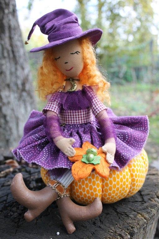 кукла с тыквой