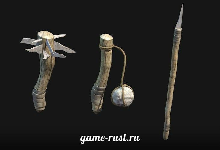 Первобытное оружие в игре Rust