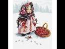 Вышивка крестиком♛ Русская зима по авторской схеме Адоньевой Ксении♛Отчет №1 вышивкакрестиком