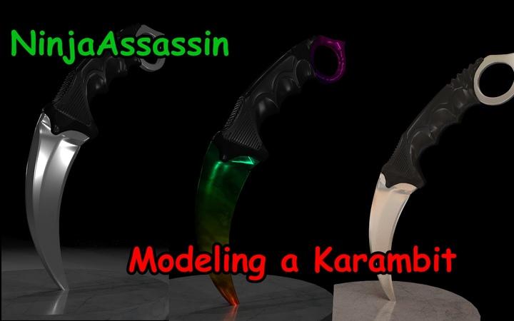 Modeling a Karambit Blender