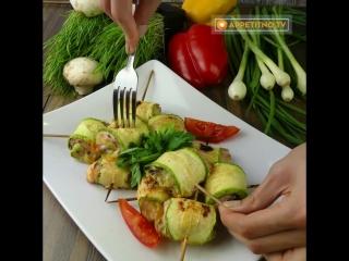 Запеченные кабачки с курицей: фитнес повар