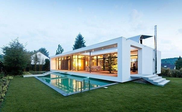 Архитектурная студия Dettling Architekten выполнила дизайн частного дома C1 в Карлсруэ, Германия.