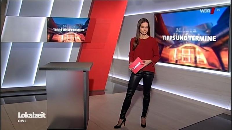Krisitna Sterz TV Moderatorin Faux Leather Pants Wetlook 26112018