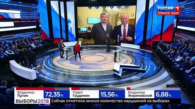 Новости на Россия 24 Геннадий Зюганов мы соперничали с огромной государственной машиной