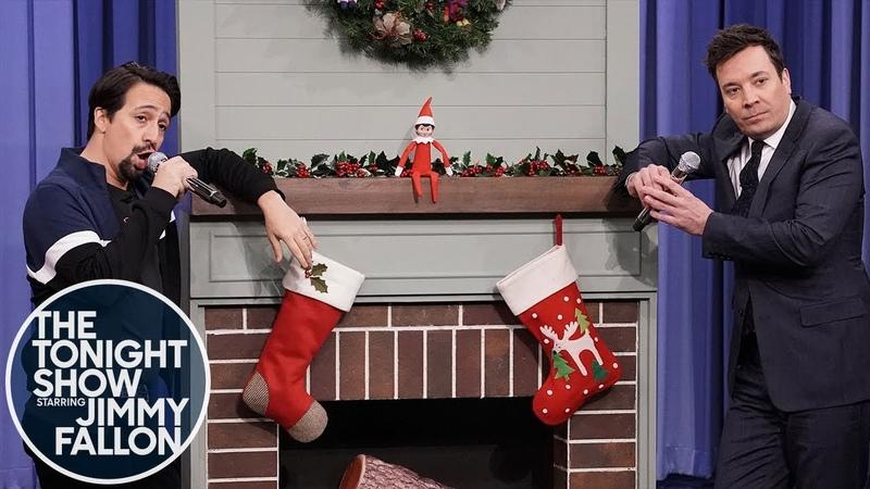 Jimmy Fallon Lin-Manuel Miranda Sing Holiday Parodies of Migos, Ariana Grande, Cardi B