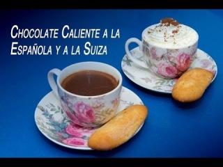 Chocolate Caliente a la Taza Estilo Español y Estilo Suizo