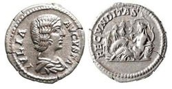 Древнеримские женщины-богини, монеты, Фекундидас